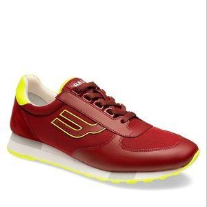 Bally Galaxy Gavino red low top sneakers